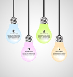 Creative 3d light bulb infographics design vector