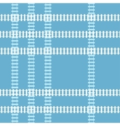 Seamless railroad background vector