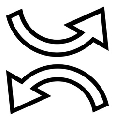 Exchange arrows contour icon vector