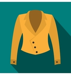 Female jacket icon flat style vector