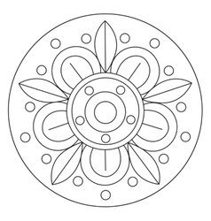 Coloring big flower mandala vector
