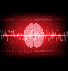 abstract brain wave concept on blue background vector image