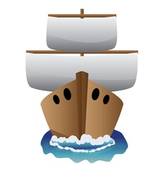 Abstract cartoon boat vector image