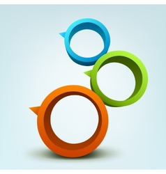 Abstract of 3d rings vector image vector image
