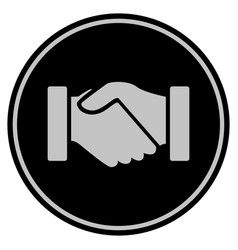 Acquisition handshake black coin vector