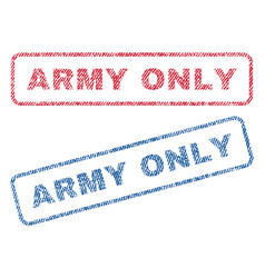 Army only textile stamps vector