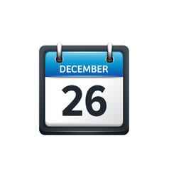 December 26 calendar icon vector