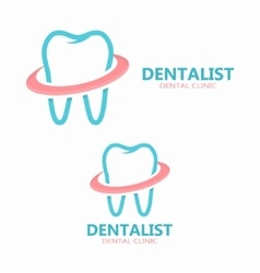 Dental logo design dental clinic logo vector