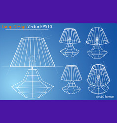 Design and manufacture of home lamps vector
