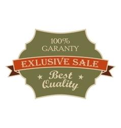 Exclusive sale green vintage banner vector