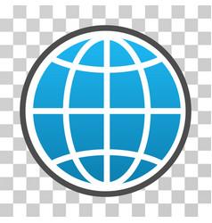 Globe gradient icon vector