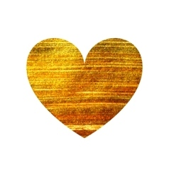 Gold heart on a white background vector