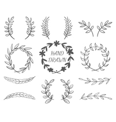 Hand drawn borders vector