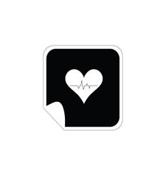 heartbeat sticker vector image
