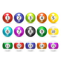 Ivories Billiard Balls Set vector image