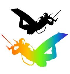 Kiteboarding vector