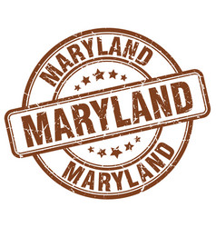 Maryland brown grunge round vintage rubber stamp vector