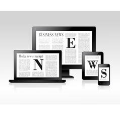 Media news concept vector image