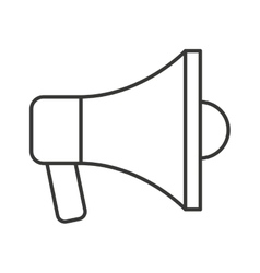 Megaphone anouncement isolated icon vector