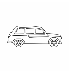 Retro car icon outline style vector image vector image