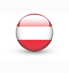 Round icon with national flag of Austria vector image vector image