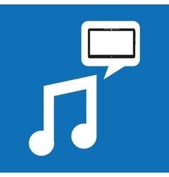 Technology music social media design vector