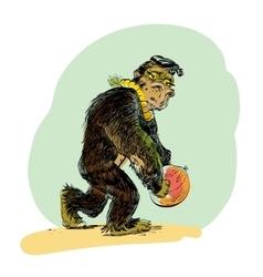 The evolution of men monkey vector
