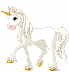 white unicorn vector image