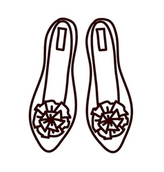 A flat shoes vector image