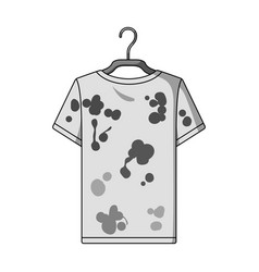 Dirty things dry cleaning single icon in outline vector