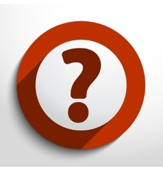 Question web flat icon vector