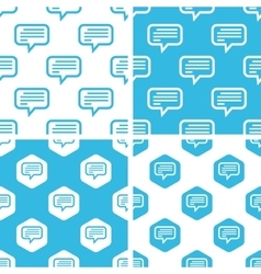 Text message patterns set vector