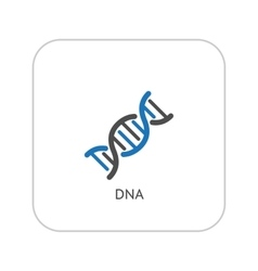 Dna and medical services icon flat design vector