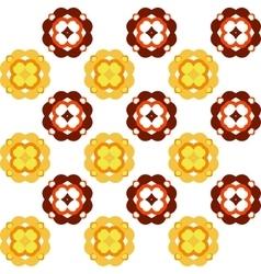 Autumn Flower Simple Seamless Pattern vector image