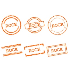 Rock stamps vector