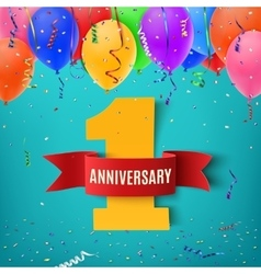 One year anniversary celebration background vector