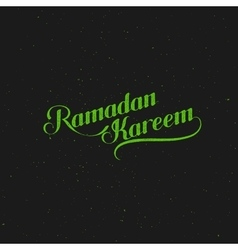 Handwritten ramadan kareem retro label vector
