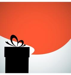 Abstract christmas present vector