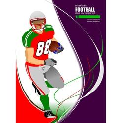 al 0925 american football 02 vector image