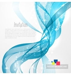 Blue modern abstract lines vector image