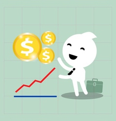 Business investment growth vector