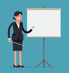 Businesswoman giving a presentation vector