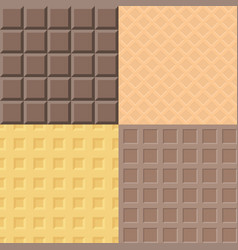 Chocolate and waffle pattern vector