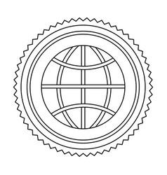 Circular frame contour with ecologic world vector