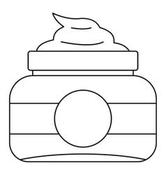 Cosmetic face cream container icon outline style vector image