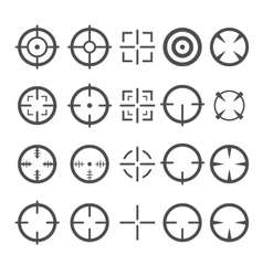 Crosshair Icon Set Target Mouse Cursor Pointers vector image