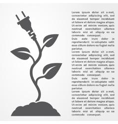 Eco energy concept vector