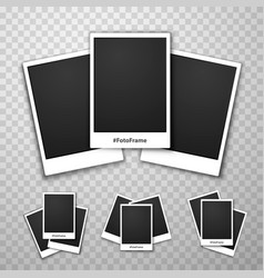 Foto frame collage on a transparent background vector