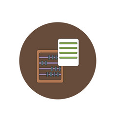 In flat design of abacus and vector