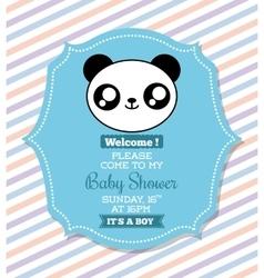 Kawaii panda baby shower design graphic vector